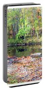 Pennsylvania Stream In Autumn Portable Battery Charger