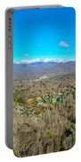 Aerial View On Mountains And Landscape Covered In Snow Portable Battery Charger