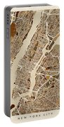New York City Street Map Portable Battery Charger