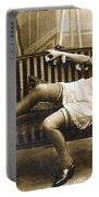 Vintage Nude Postcard Image Portable Battery Charger