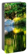 Nature Landscape Oil Painting On Canvas Portable Battery Charger