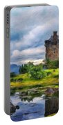 Landscape Nature Drawing Portable Battery Charger