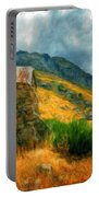 Landscape Painted Portable Battery Charger