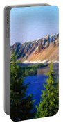 Painting Landscape Portable Battery Charger