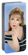 Pin Up Girl Portable Battery Charger