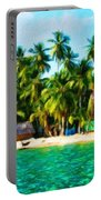 Nature Oil Painting Landscape Images Portable Battery Charger