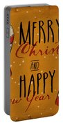 Christmas Greetings Portable Battery Charger