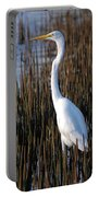17- Great Egret Portable Battery Charger