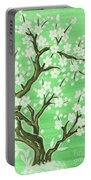 White Tree In Blossom, Painting Portable Battery Charger