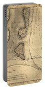 1765 Florida Coast Map Portable Battery Charger