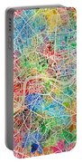 London England Street Map Portable Battery Charger