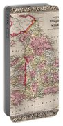 1800s Wales County Map Wales England Color Portable Battery Charger