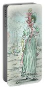 1801 Paris France Fashion Drawing Portable Battery Charger