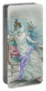 1804 Paris France Fashion Drawing Portable Battery Charger