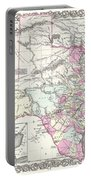 1855 Texas Map Portable Battery Charger