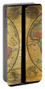 1858 Set Of Two Pelton Wall Maps, Western Hemisphere And Eastern Hemisphere  Portable Battery Charger