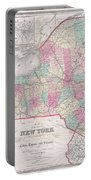 1858 Smith - Disturnell Pocket Map Of New York Portable Battery Charger