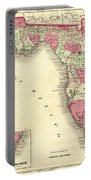 1864 Florida Map Color Portable Battery Charger