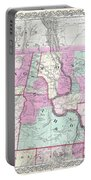 1866 Colton Map Of Oregon Washington Idaho And Montana W Wyoming Portable Battery Charger
