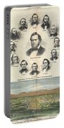 1866 Harpers Weekly View Of Salt Lake City Utah W Brigham Young Mormons Portable Battery Charger