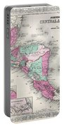 1866 Johnson Map Of Central America Portable Battery Charger