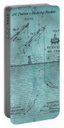 1868 Fishing Tackle Patent Blue Portable Battery Charger