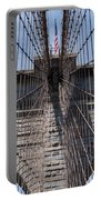 1875 Brooklyn Bridge Tower Color  Portable Battery Charger