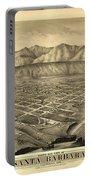 1877 Santa Barbara California Map Portable Battery Charger