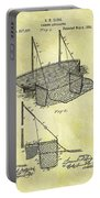 1882 Fishing Net Patent Portable Battery Charger