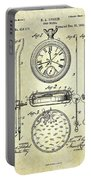 1889 Stop Watch Patent Art S. 1 Portable Battery Charger