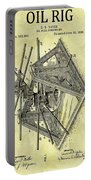 1896 Oil Rig Illustration Portable Battery Charger