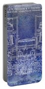 1897 Beer Brewering Patent Blue Portable Battery Charger