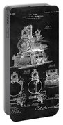 1898 Locomotive Headlight Patent Portable Battery Charger