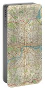 1899 Bartholomew Fire Brigade Map Of London England  Portable Battery Charger
