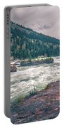 Kootenai River Water Falls In Montana Mountains Portable Battery Charger