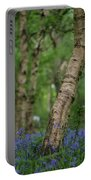Shallow Depth Of Field Landscape Of Vibrant Bluebell Woods In Sp Portable Battery Charger