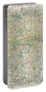 1900 Bacon Pocket Map Of London England  Portable Battery Charger