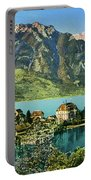1900s Switzerland Swiss Alps Spiez Mit Ralligstoecke Portable Battery Charger
