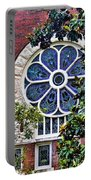 1901 Antique Uab Gothic Stained Glass Window Portable Battery Charger by Kathy Clark