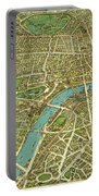 1908 London Vintage Map Poster Portable Battery Charger