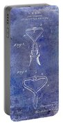 1909 Cork Extractor Patent Blue Portable Battery Charger