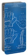 1910 Baseball Glove Patent Artwork Blueprint Portable Battery Charger