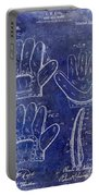 1910 Baseball Glove Patent Blue Portable Battery Charger