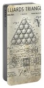 1910 Billiards Triangle Patent Portable Battery Charger
