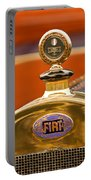 1913 Fiat Type 56 7 Passenger Touring Hood Ornament Portable Battery Charger by Jill Reger