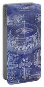 1916 Merry Go Round Patent Blue Portable Battery Charger