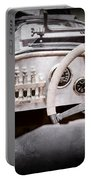 1925 Aston Martin 16 Valve Twin Cam Grand Prix Steering Wheel -0790ac Portable Battery Charger