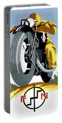 1925 Fn Motorcycles Advertising Poster Portable Battery Charger