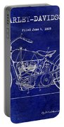 1928 Harley Davidson Patent Drawing Blue Portable Battery Charger