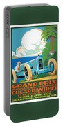 1929 Cap D'antibes Grand Prix Racing Poster Portable Battery Charger